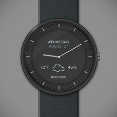 Smartwatch mockup - weather