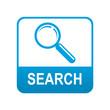 Etiqueta tipo app azul SEARCH