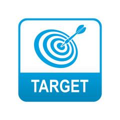 Etiqueta tipo app azul TARGET
