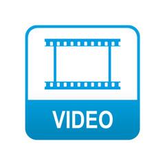 Etiqueta tipo app azul VIDEO
