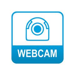 Etiqueta tipo app azul WEBCAM