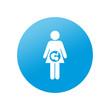 Etiqueta redonda embarazada