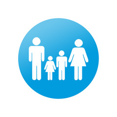 Etiqueta redonda familia