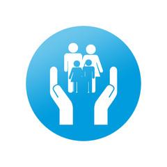Etiqueta redonda servicios sociales