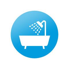 Etiqueta redonda ducha