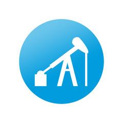 Etiqueta redonda campo petrolifero