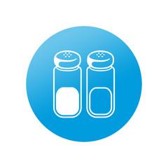 Etiqueta redonda sal y pimienta