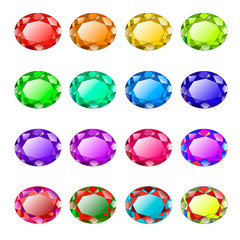 colored faceted gemstones
