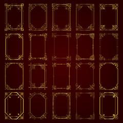 Decorative vintage frames in gold