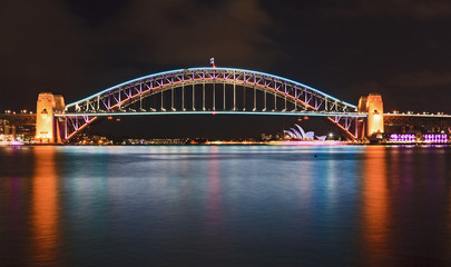 Sydney Bridge Vivid Side