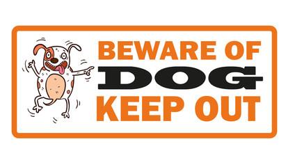 Beware of dog label