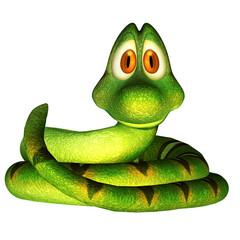 3d cartoon snake