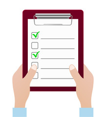 checklist icon with hands