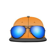 baseball cap template with sunglasses