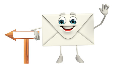 Mail Character with sign board
