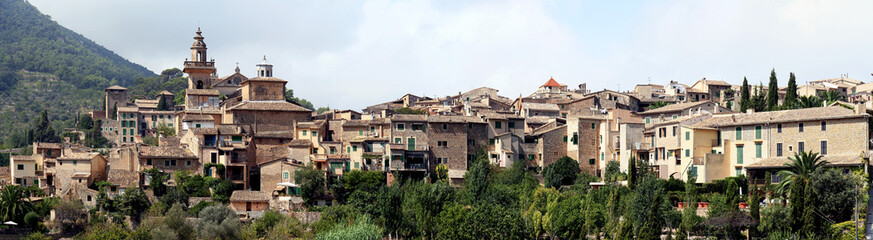 Panoramic view of Valdemossa, little town in the isle of Majorca