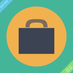 Briefcase icon - vector illustration. Flat design