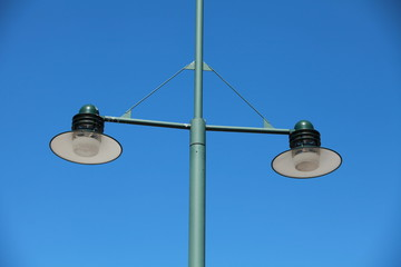 Streetlight against a Clear Blue Sky