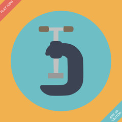 G Clamp Icon - vector illustration. Flat