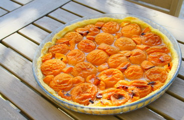 tarte aux abricots,d'été  maison
