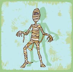 halloween cartoon mummy