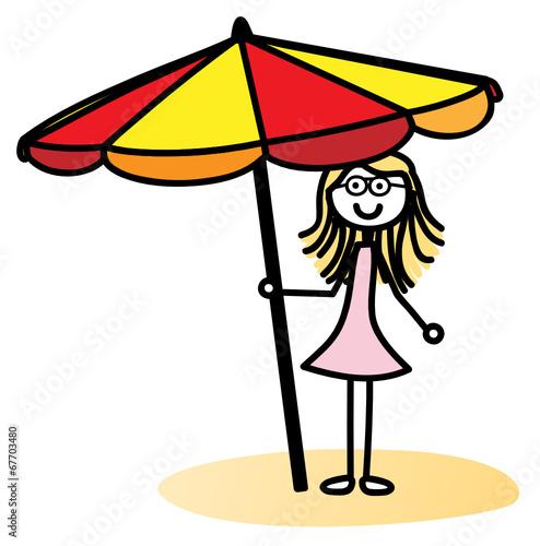 Sonnenschirm grafik  GamesAgeddon - Mädchen mit Sonnenschirm - Lizenzfreie Fotos ...