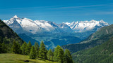 European Alps. Panorama with high mountains