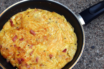 Omelet in Frying Pan