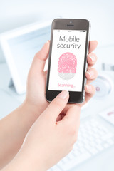 Smartphone fingerprint scanning for mobile security