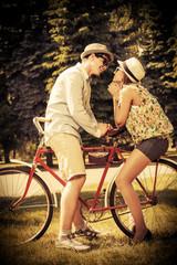 with bike