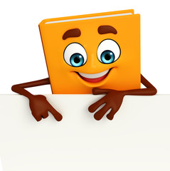 Book Character with sign