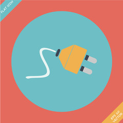 Electric plug icon - vector illustration.