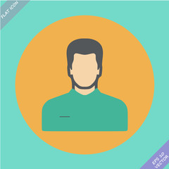 Vector icon of man - vector illustration.