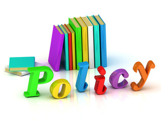 policy 3d inscription bright volume letter