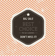 Vector big sale background with label
