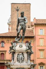 Neptune statue front view, Bologna, Italy
