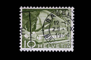 Briefmarke_Schweiz_Bahn
