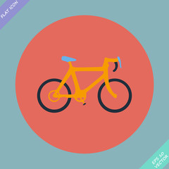 Bicycle icon - vector illustration.