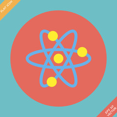 Atomic Symbol Icon - vector illustration.