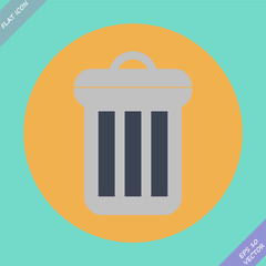 Trash can icon - vector illustration.
