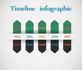 Timeline - different tooltips - vector infographic