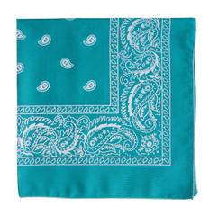 turquoise bandanna