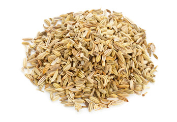 Heap of fennel seeds