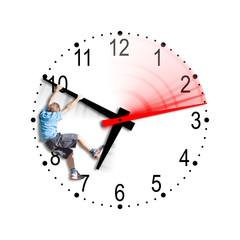 A boy plays with the time - Un bimbo gioca con il tempo