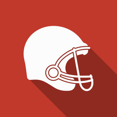 american football helmet icon with long shadow