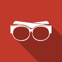 glasses icon with long shadow