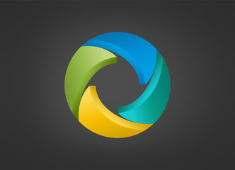 Business partnership logo corpoate creative teamwork