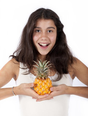 girl with pineapple