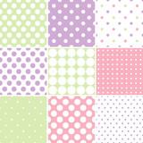 Fototapety Pastel polka dot seamless patterns