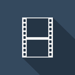 filmstrip icon with long shadow